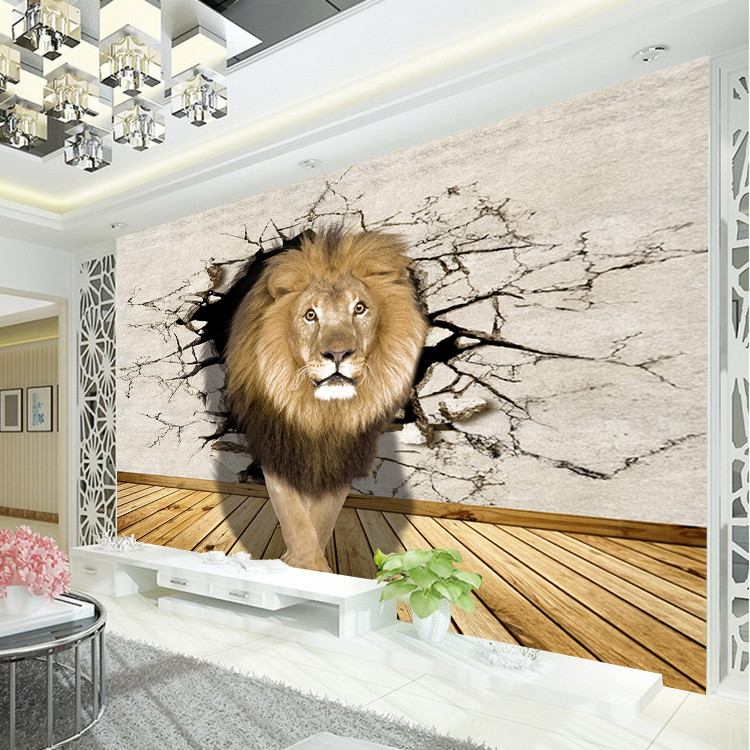Lion Photo Wallpaper Animal World Wall Mural Modern Art Kid Bedroom Livingroom Hallway Sofa Tv Background Gift In Wallpapers From Home