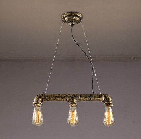 Loft Style Water Pipe Lamp Retro Edison Pendant Light Fixtures Vintage Industrial Lighting For Dining Room Hanging Lamparas retro loft style iron glass edison pendant light for dining room hanging lamp vintage industrial lighting lamparas colgantes