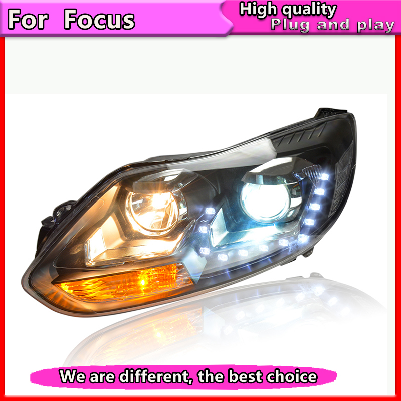 Car Styling Assembly for Focus 2012 2013 2014 Headlights focus 3 LED Headlight DRL Lens Double Beam Bi Xenon HID car Accessories