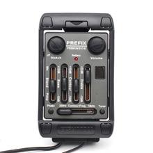 3 Band Gitaar Pickup Fishman PREFIX PREMIUM S O B EQ met Microfoon Zwart EQ Equalizer Instrument Gitaar Accessoires