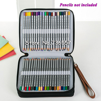 120 Holder 4 Layer Portable PU Leather School Pencils Case Large Capacity Pencil Bag For Colored Pencils Watercolor Art Supplies
