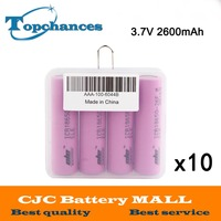 10x4 шт./партия высокое качество 3.7 В 2600 мАч Li Ion 18650 литий ионная Батарея ICR18650 26F 2600 мАч батареи baterias с коробка