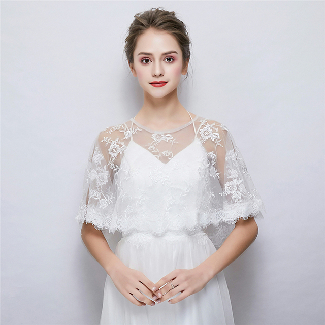 Women Summer Wedding Dress Wrap Soft Chiffon Women Cape Bridal