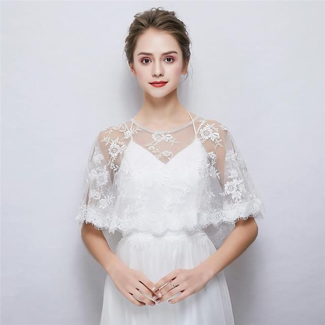 a078cf7a1fbc Women Summer Wedding Dress Wrap Soft Chiffon Women Cape Bridal Bridesmaids  Cover Up Shawl Dinner Dress Beach Wear Lace Bolero