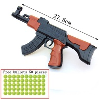 DIY Assembly Toy Submachine Gun Model, Learning Education Stitching Building Blocks Gun, Free Gifts Fuorescent Bullets