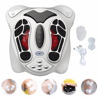 Electric Foot Massager Far Infrared Pressure Points Foot Massage Machine Reflexology Feet Care Body Slimming Belt 8 EMS Pads