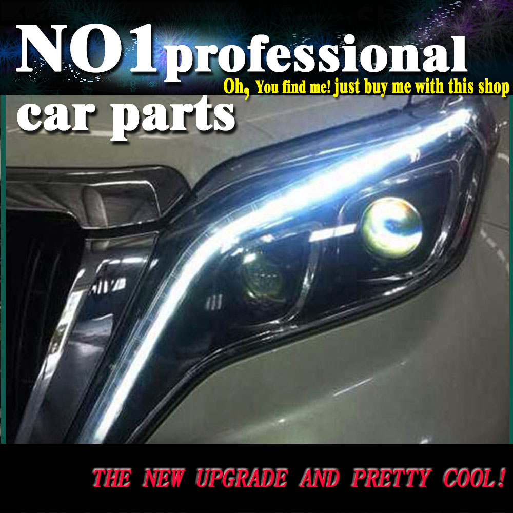 Car Styling Head Lamp 2014 2016 For Toyota Nieuwe Prado headlights led  head lamp DRL front Bi-Xenon Lens Double Beam HID KIT special car trunk mats for toyota all models corolla camry rav4 auris prius yalis avensis 2014 accessories car styling auto