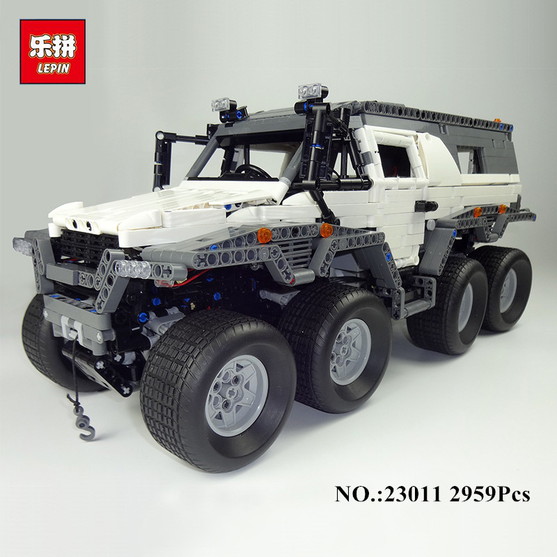 2016 New LEPIN 23011 2959 pcs Technic Series Off-road vehicle Model Building Kits Block Educational Bricks Compatible Toys Gift lepin 22001 pirate ship imperial warships model building block briks toys gift 1717pcs compatible legoed 10210