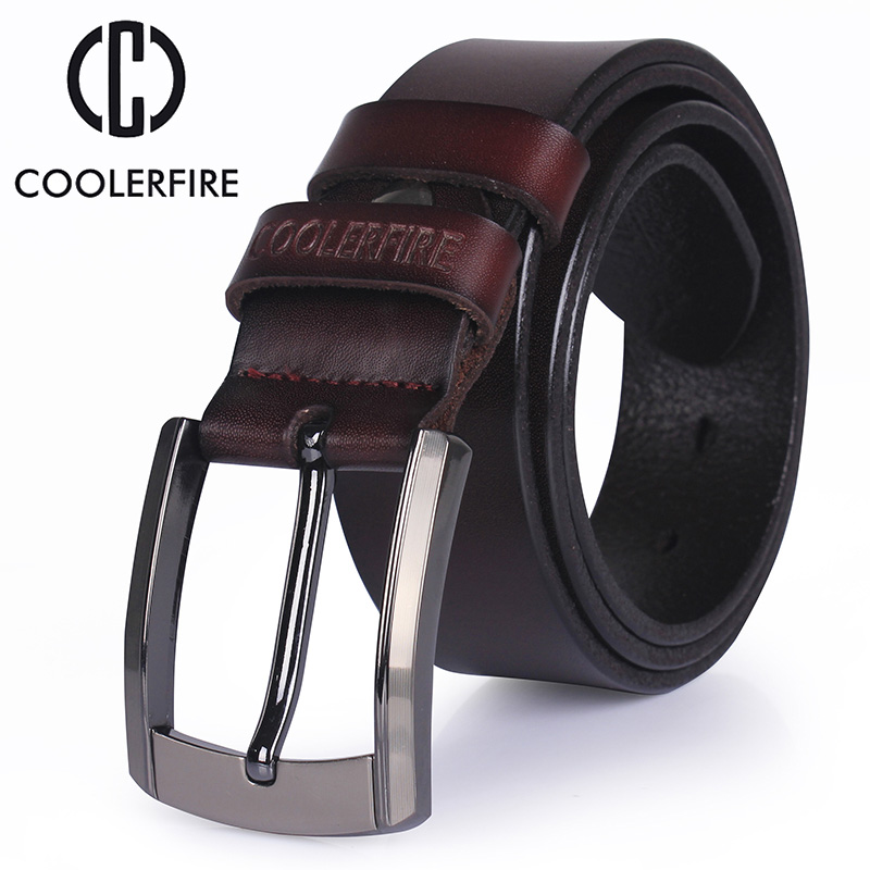 CCOOLERFIRE genuine leather belt luxury designer belts men cowskin Strap male Jeans