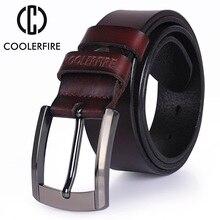 men high quality genuine leather belt lu