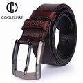Cinturón de cuero genuino de alta calidad para hombre cinturones de diseño de lujo para hombre correa de moda de piel de vaca Jeans para hombre vaquero envío gratis