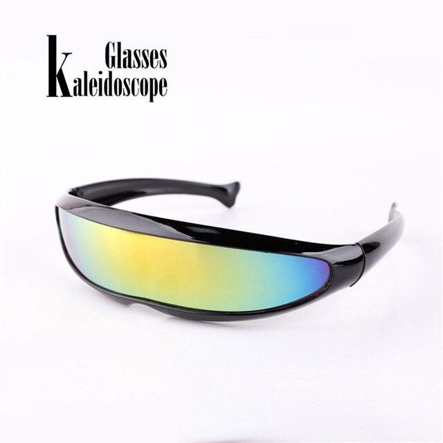 90b65e454d0d X-Men Fish Shaped Sunglasses Men Personality Laser Eyewears Cool Robot Sun  Glasses Driving Sunglass