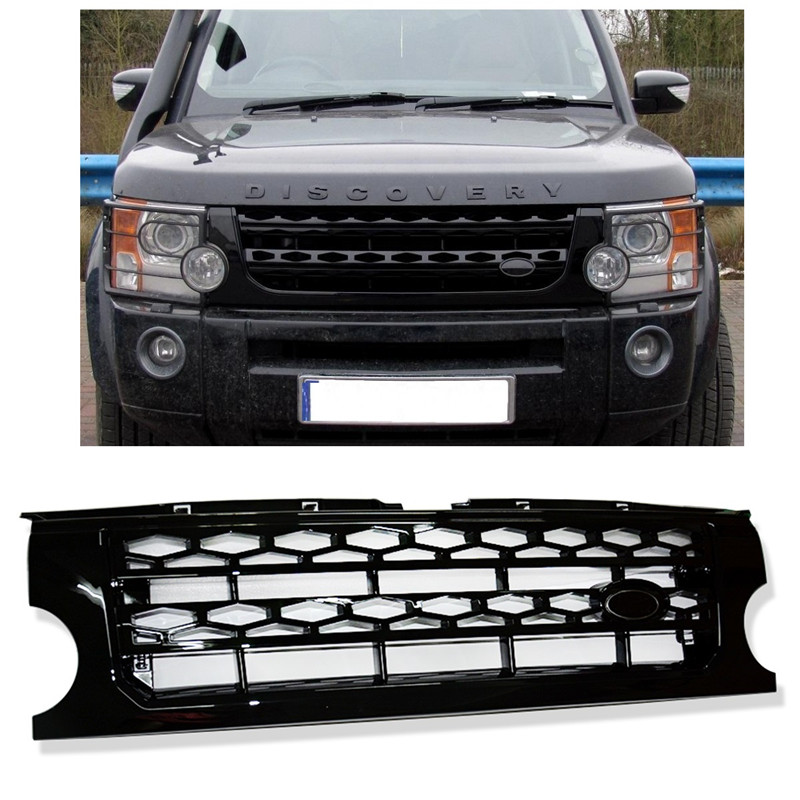 CAR STYLING EXTERIOR AUTO ACCESSORIES FRONT ABS RACING GRILL GRILLS FIT FOR LAND ROVER DISCOVERY 3 2005-2009 FRONT MASK GRILLE