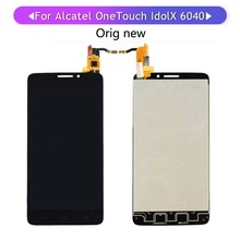 Shyueda 100% Oig NEW For Alcatel Idol X OT 6040 6040A 6040D 6040X OT6040 LCD Display Touch Screen Digitizer  with tools стоимость