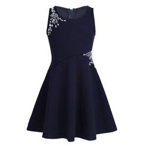 Image 3 - フラワーガールのドレス子供の子供の女の子ノースリーブ見事なラインストーン王女のためパーティーカジュアル夏