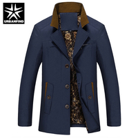 Top Quality Men Fashion Jackets Turn Down Collar Man Outerwear Plus Size M-5XL Solid Color Man Casual Coats Slim Fit Overcoats