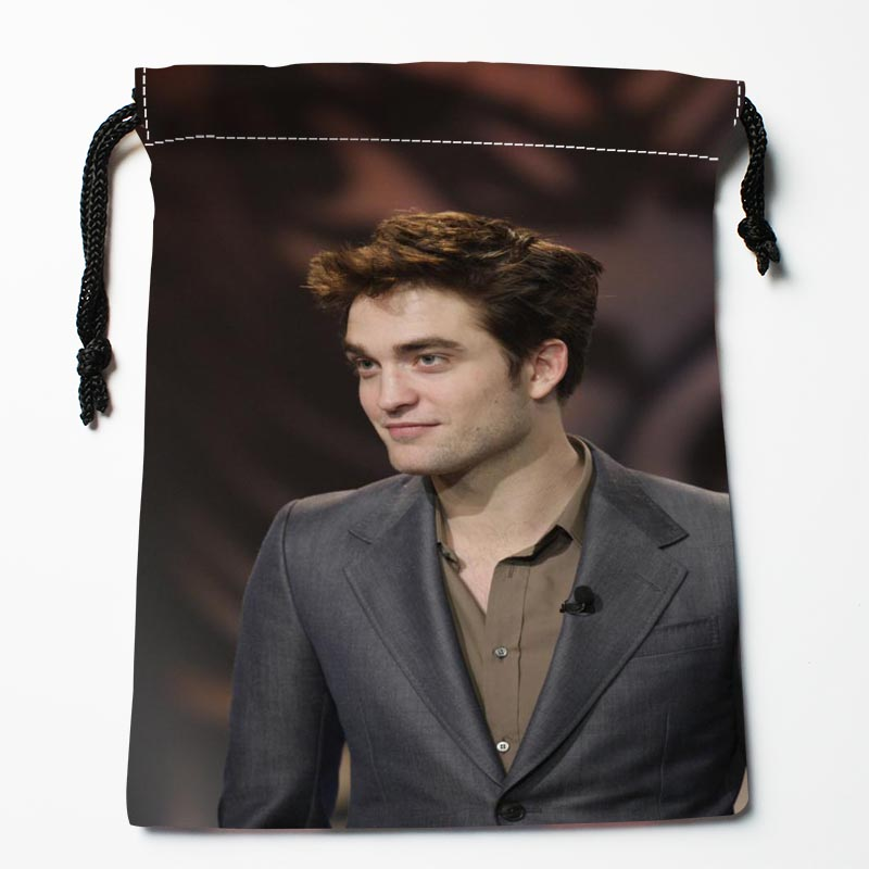Best Robert Pattinson Drawstring Bags Custom Storage Printed Receive Bag Type Bags Size 18X22cm Storage Bags image