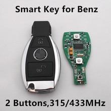 2 Botones de Llave Inteligente A Distancia con NEC BGA Chip Para El Coche Mercedes Benz año 2000 + 315 MHz/433 MHz