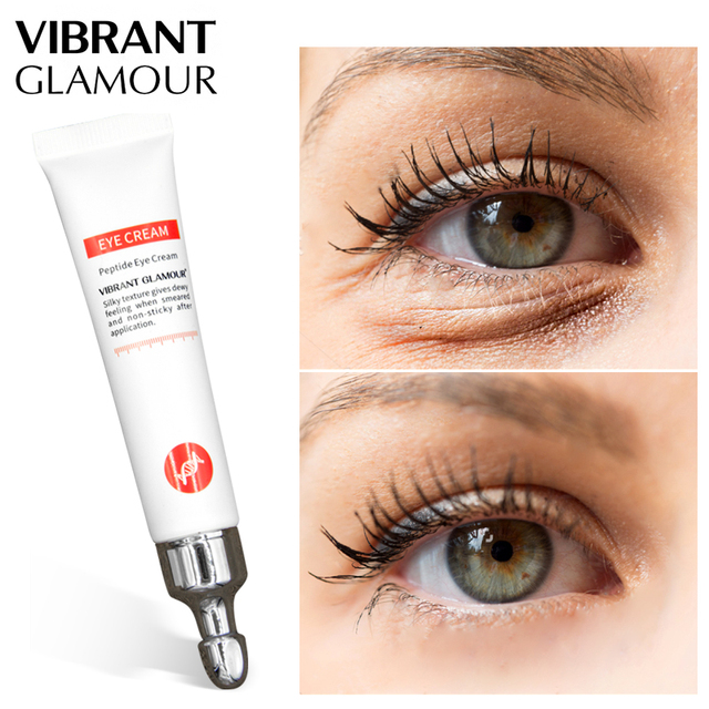 VIBRANT GLAMOUR Eye Cream Peptide Collagen Crocodile Cream Anti Wrinkle Remover Dark Circles Against Puffiness Bags