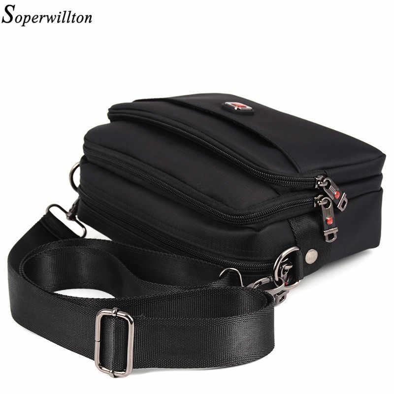 Soperwillton Men's Bag Male Bag Brand Bag Men Oxford Messenger Bag Crossbody Man Famous Brand Design Black Bolsa Masculina #1053