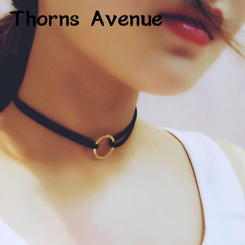 New Fashion 2 Colors Bijoux Femme Torques Choker Chocker Pendant Necklaces Boho Wedding Statement Necklaces For Women Jewelry