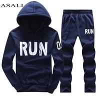 ASALI Brand Men Clothing Set 2017 Autumn Hoodies Sweatshirts Sporting Sets Men S Tracksuits Mens Tracksuits