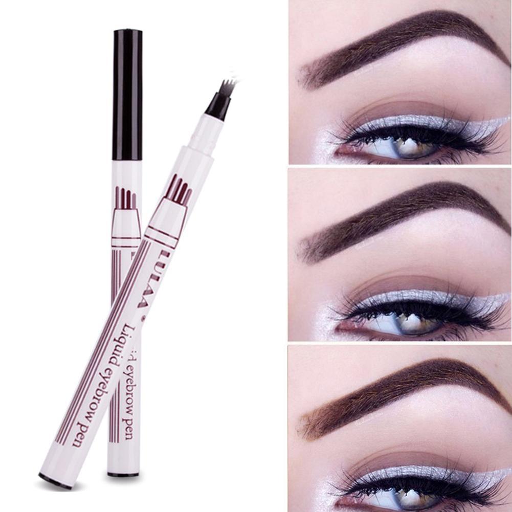1pc Eyebrow Pencil Eyebrow Pen Women Girl Waterproof Fork ...
