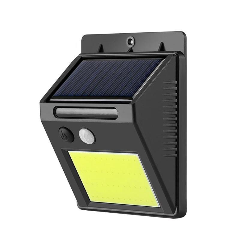 Outdoor Solar 48LED COB Smart IR Motion Sensor Wall Mount Lights Lamp IR Motion Sensor Wall Mount Lamp Courtyard Fence Pathway