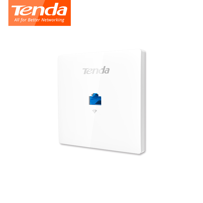 Tenda W9 1200Mbps Wireless Access Point 11AC Wifi Router WiFi Repeater , Indoor Wall Client+AP, IEEE 802.11n/g/b PoE, PPTP, L2TP tp link 300mbbps ap wireless access point indoor wall embedded wireless wifi router repeater tl ap300i dc 9vdc 0 6a dc power