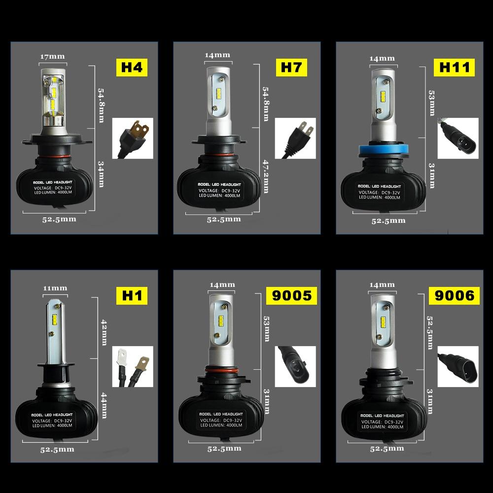 H4 Hed H7 H1 H11 Žarnice za žaromete S1 CSP čipi H3 H8 H9 HB3 HB4 - Avtomobilske luči - Fotografija 6