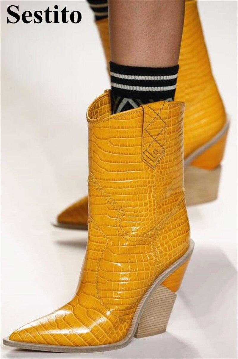 mollet Talon Pointu on Bottes Femme Printemps Européenne Picture Pour Picture automne Mi Super Noir As Nouveau Chaussures Bout as Haute Dames Femmes Slip Carré tOqxxw40Z