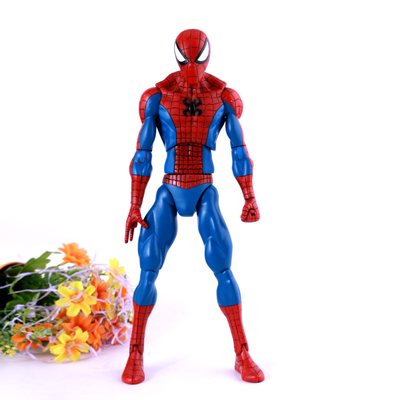 Hot Superhero 32cm <font><b>PVC</b></font> Spiderman <font><b>Figure</b></font> Freeshipping Comic Anime <font><b>Figure</b></font> <font><b>Action</b></font> Cool <font><b>Shape</b></font> Various Poses Diarthrosis Movable