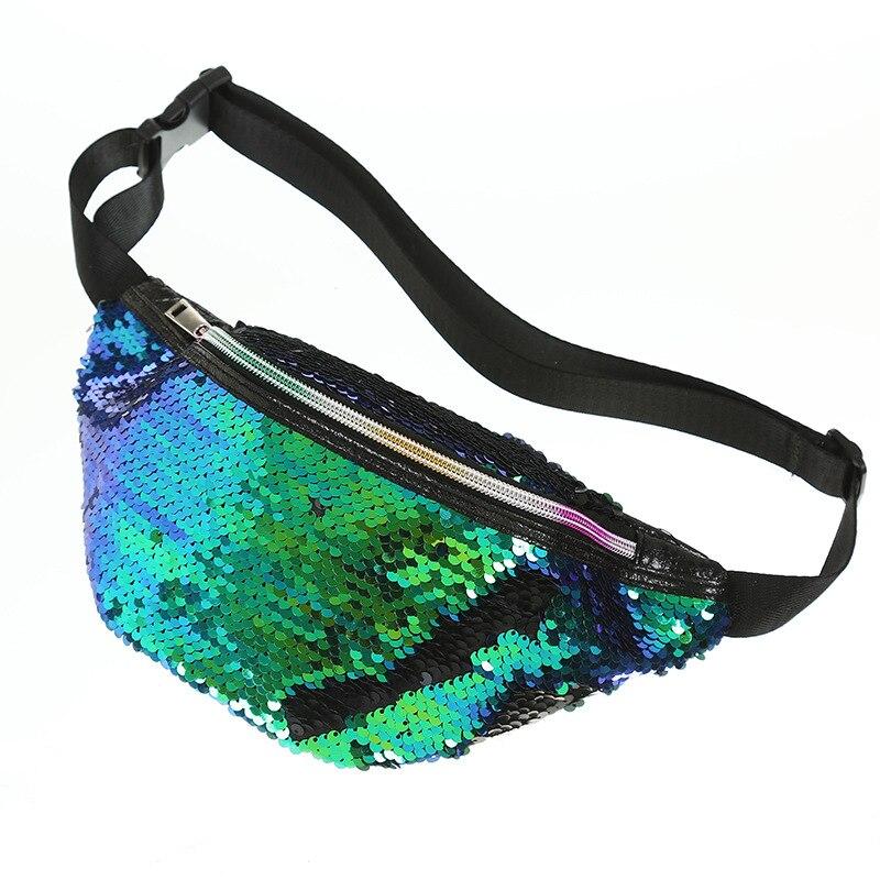 Bescheiden Miyahouse Mode Laser Pailletten Weibliche Taille Packs Fanny Outdoor Damen Packung Beutel Hüfte Geldbörse Frauen Umhängetasche Damentaschen