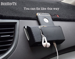 Image 3 - Car Phone holder storage box in Car socket Black for smart phone No Magnetic Holder Support Universal for iphone samsung Hot