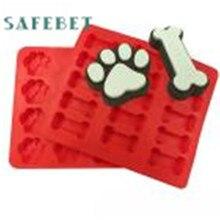 Molde Para Hornear Galletas 2 unids Cachorro Mascota Perro Huesos de Patas de la Categoría Alimenticia de Silicona Ecológico A13