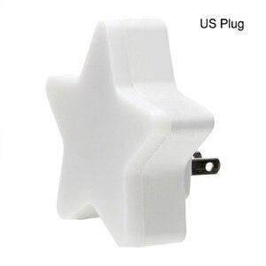 Image 5 - Led Nachtlampje Sensor Controle Energiebesparing Mini Lamp Woonkamer Slaapkamer Verlichting Us/Eu Plug Ночник Kinderen nachtlampje