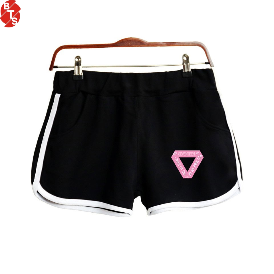 SEVENTEEN Kpop Printed   Shorts   for Women Fashion Casual Hot Sale   Shorts   2018 Hot Sale Fans Girls Sexy Wear Suitable for Summer