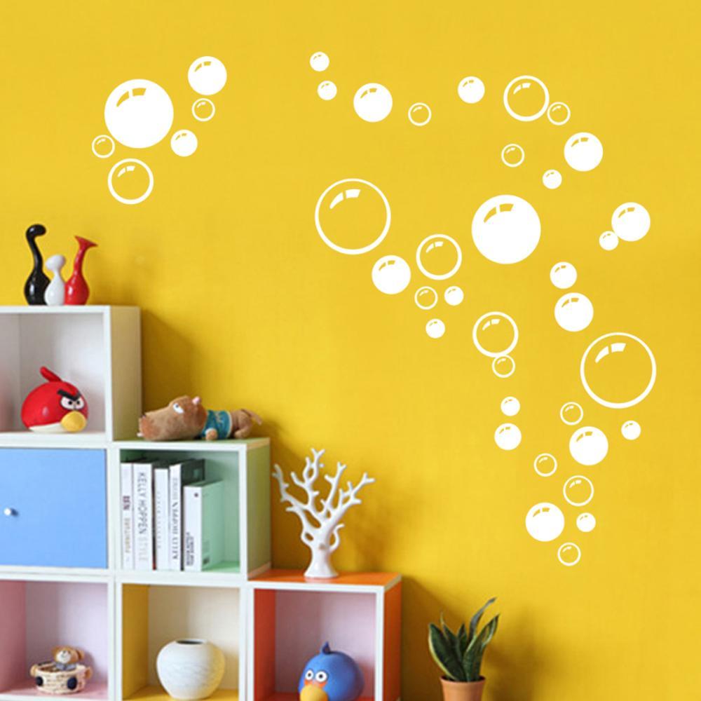 moderno burbuja crculo patrn de productos de bao de la pared pegatinas decoracin del hogar papel pintado impermeable azul fr