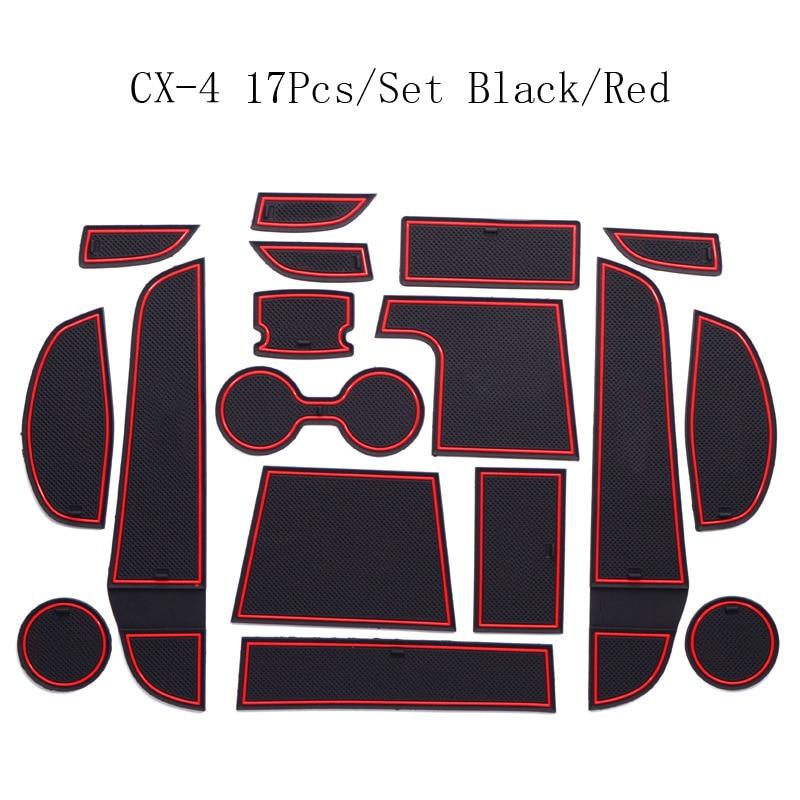 For Honda CR-V 2015 Non-Slip Interior Door Gate Pad Groove Panel Cup Mat 17Pcs