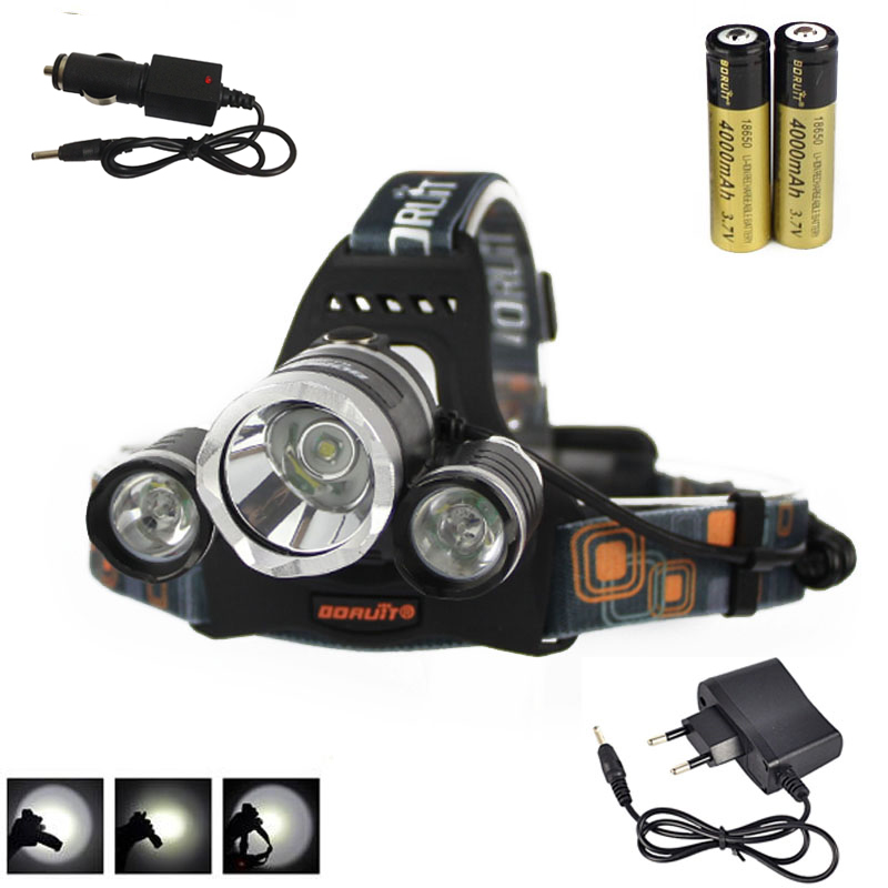 Boruit 8000Lm 3X XM-L T6+2R5 LED Headlamp Head Light Torch 18650 Rechargeable Battery+AC/Car Charger Camping Fishing CyclingBoruit 8000Lm 3X XM-L T6+2R5 LED Headlamp Head Light Torch 18650 Rechargeable Battery+AC/Car Charger Camping Fishing Cycling