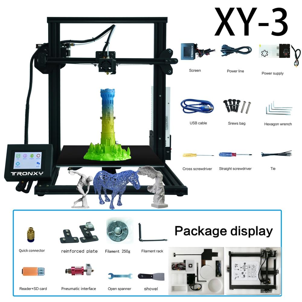 Tronxy XY-3 imprimante 3D I3 Mega grande grande taille en métal TFT écran tactile 3d imprimante haute précision navire de russe