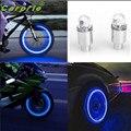 Cls Super Agradable Accesorios de Automóviles Suministros de Bicicleta de Neón Azul Estroboscópica LED de Válvula del Neumático Caps Julio 26