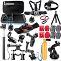 Hot Go pro Accessories Monopod Tripod Float Bobber Chest head strap For Gopro Hero 4 3 Xiaomi yi SJ4000 Camera Big Tool box GS45