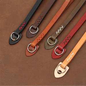 Image 2 - cam in WS010 3021 3026 Italy Cowskin Camera Wrist Strap Cowhide Leather DSLR spire lamella Hand Belt 4 colors