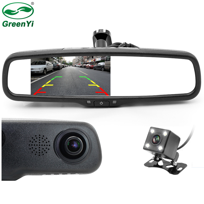 1280P Car Rearview Mirror DVR Monitor Dash Camcorder Car Camera Camcorder Car DVR Double Lens Dual Video CCTV Recorder Camera -in DVR/Dash Camera from Automobiles & Motorcycles
