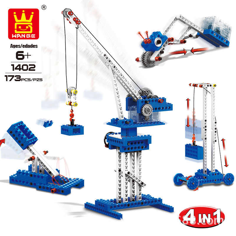 Model Building Kits Power Machines Blokken Domino Machine Beam Pompunit Mechanische Engineering Bakstenen Voor Kinderen Onderwijs