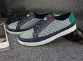 Latest style Herrskor Flats men blue Fashion shoes  herrenschuhe 2015 Genuine Leather Hard-Wearing Anti-Slippery 3 colors,