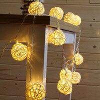 5M 20 LED String Garland Weave Ball Lights DIY Wedding Christmas Fairy Light Outdoor Garden Holiday