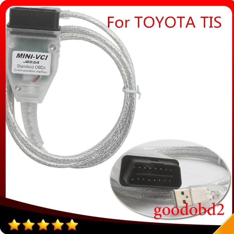 Prix pour Professionnel Outil De Diagnostic MINI VCI J2534 TSI TECHSTREAM Connecteur Adaptateur V10.30.029 Unique Support de Câble pour Toyota TIS