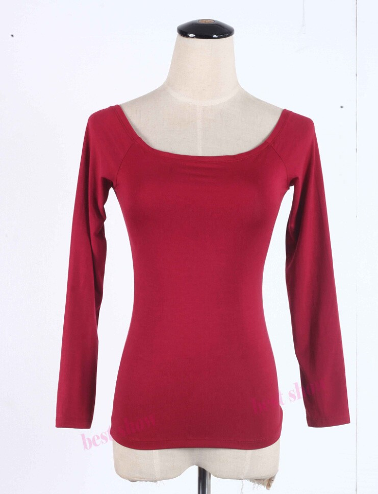wine red long sleeve
